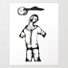Zombie Apocalypse-My name was Dan Art Print