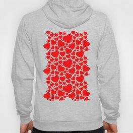 Red Hearts Pattern Hoody