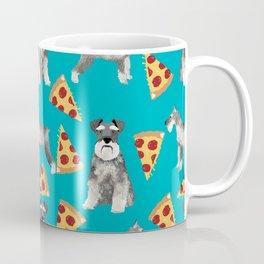 schnauzer pizza dog breed pet pattern dog mom Coffee Mug