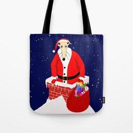 Christmas Whippet Tote Bag