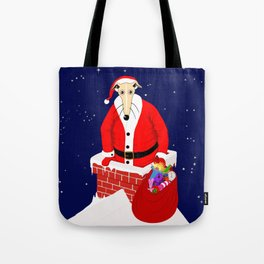 Christmas Whippet Tote Bag