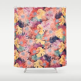 Tropical Leaves #05 Shower Curtain