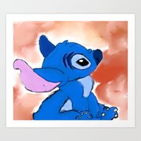 stitch Art Prints featuring STITCH  by Taylor Perren