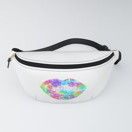 Rainbow Neon Colorful Kiss 90s Fanny Pack