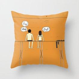 Nothing Throw Pillow