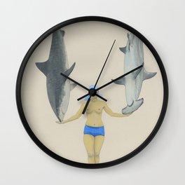 The Shark Charmer Wall Clock