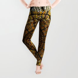 Barcelona glass window stained glass Leggings