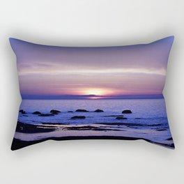 Purple Sunset on the Sea Rectangular Pillow