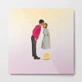 Lemon kissing Metal Print