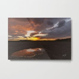 red sunset reflection Metal Print