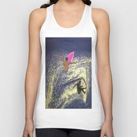 surfing Tank Tops featuring SURFING by aztosaha
