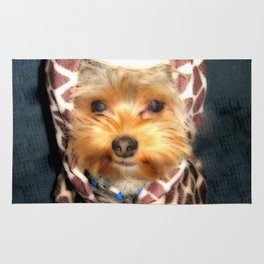 Dog | Happy Giraffe | Yorkie Puppy | Dogs | Puppies | Pets Rug