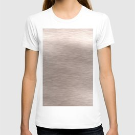 Luxury shiny silver foil T-shirt