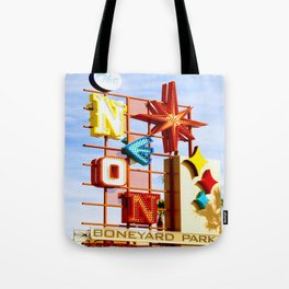 Neon Boneyard Tote Bag