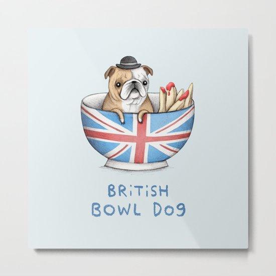 British Bowl Dog Metal Print