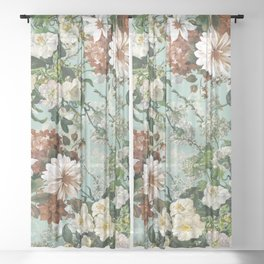 Midnight Garden XIII Sheer Curtain