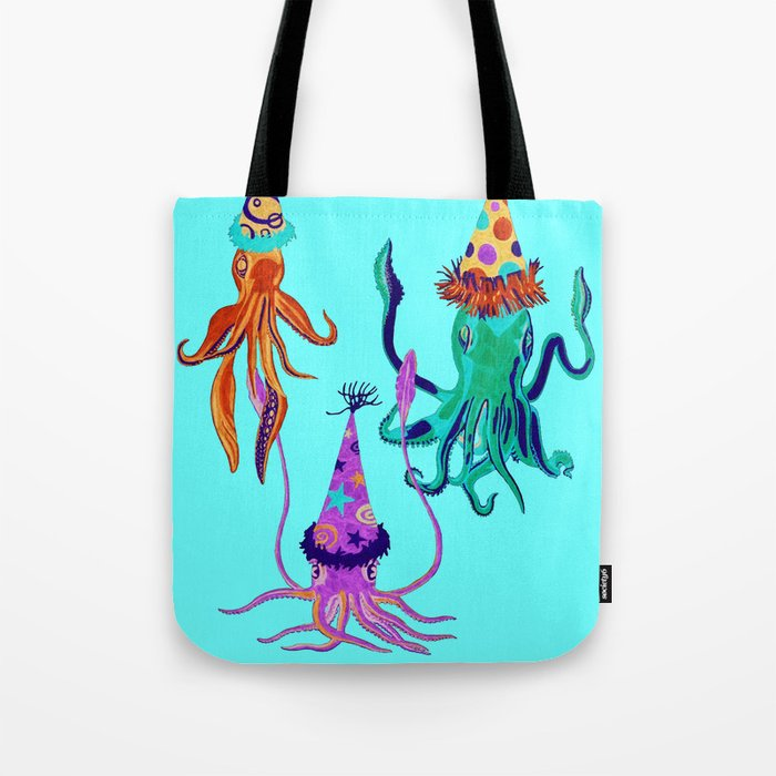 Party Squids Tote Bag