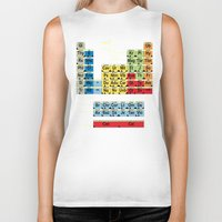 periodic table Biker Tanks featuring Periodically Fictional Table by AMO Design