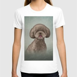 Drawing Toy poodle puppy T-shirt