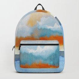 Orange Sea Drop Backpack