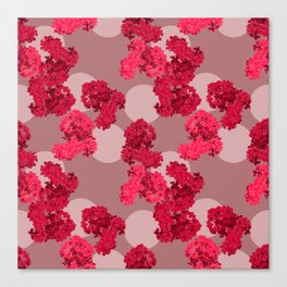 Crepe Myrtle in Scarlet Canvas Print