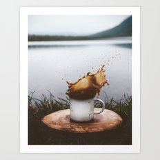 Splash of Coffee Art Print