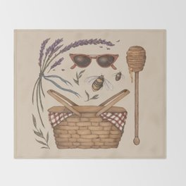 Summer Picnic Collection Throw Blanket