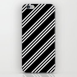 Black and White Large/Small/Small Stripes iPhone Skin