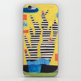 Striped Cactus iPhone Skin