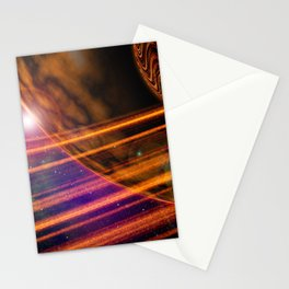 Space Scene Two Stationery Cards
