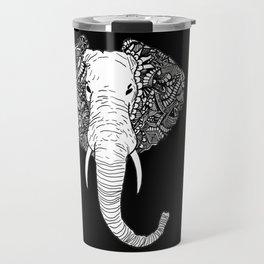 Abstract Elephant Travel Mug