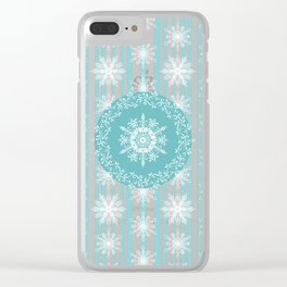 Frosty Snowflakes Coordinate Clear iPhone Case
