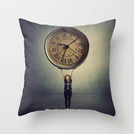 time control Throw Pillow