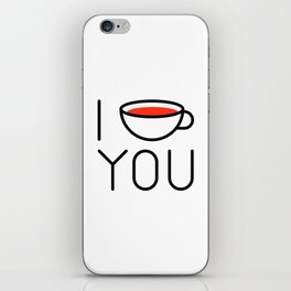 I Coffee You - Love, Coffeeholic iPhone Skin