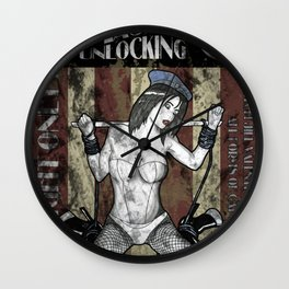 Jill Valentine The Master Of Unlocking Carnival Poster (Resident Evil) Wall Clock