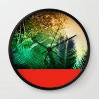 palms Wall Clocks featuring PALMS by Teresa Madruga