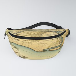 Chicago Map Vintage 1883 Fanny Pack