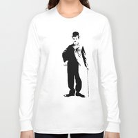 chaplin Long Sleeve T-shirts featuring Chaplin by Vee Ladwa