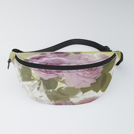 Wonderful English Roses in a crystal bowl - Rose - Flowers Fanny Pack