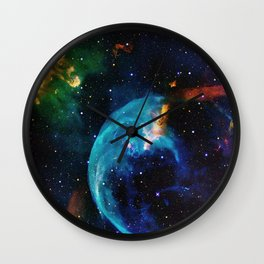 Blue Bubble Wall Clock