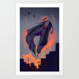 Seduced by the Sunset Art Print