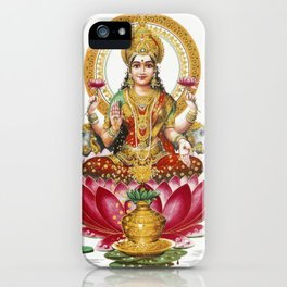 Hindu Goddess Lakshmi Indian Asia Yoga Meditation iPhone Case