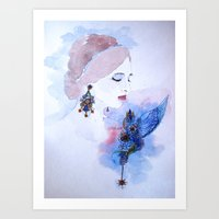 lady Art Prints featuring Lady by S.Svetlankova