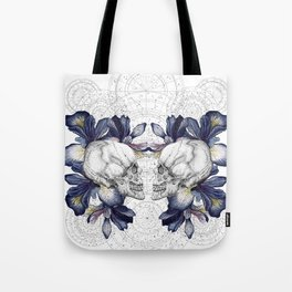 SKULLS & IRIS Tote Bag