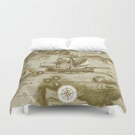 Insula Antillia Duvet Cover