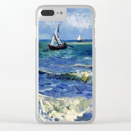 Vincent van Gogh Seascape near Les Saintes-Maries-de-la-Mer Clear iPhone Case