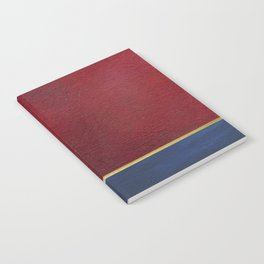 Deep Blue, Red And Gold Abstract Painting Notebook