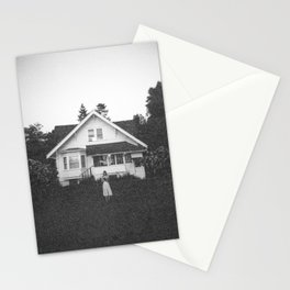 Ghostly Girl in the Garden - Holga Black and White Photograph Stationery Cards