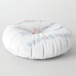 Nautical Notation Floor Pillow