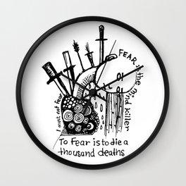 Fear Is The Mind Killer Wall Clock